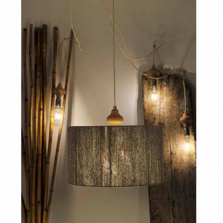 Lámpara de techo moderna de madera con 4 luces modelo Bois