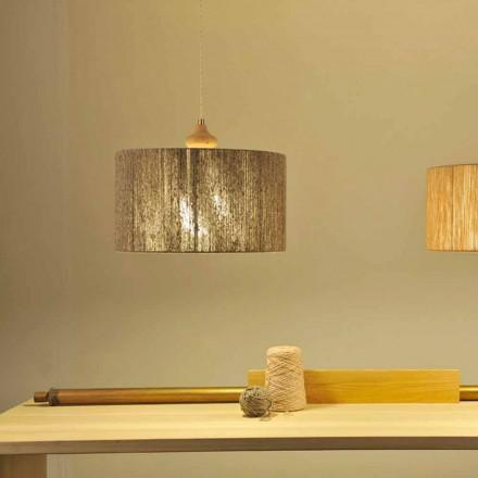 Lámpara de techo moderna con decoración de madera Bois