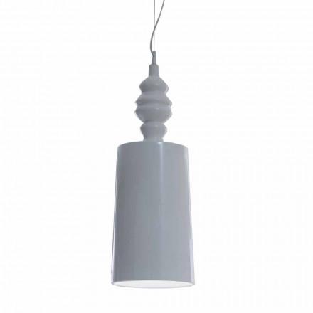 Pantalla para lámpara de suspensión de diseño de cerámica blanca brillante - Cadabra