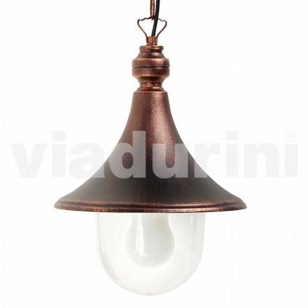 Lámpara colgante de exterior fabricada en aluminio, made in Italy, Anusca
