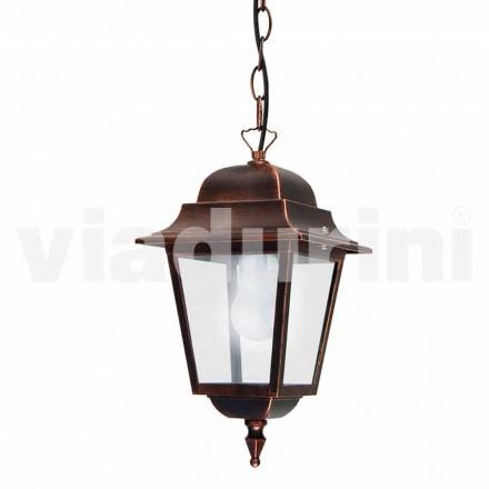 Lámpara de suspensión de exterior fabricada en aluminio, fabricada en Italia, Aquilina.
