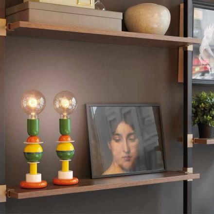 Lámpara de mesa de diseño en aluminio multicolor Slide Otello Mini