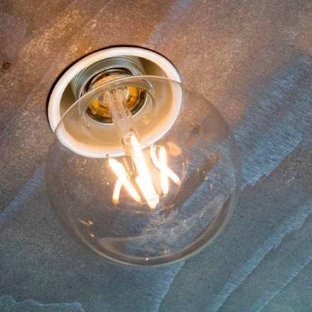 Lámpara empotrada artesanal en aluminio blanco Made in Italy - Frana