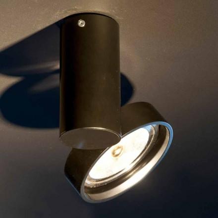 Lámpara de aluminio artesanal con anillo ajustable Made in Italy - Gemina