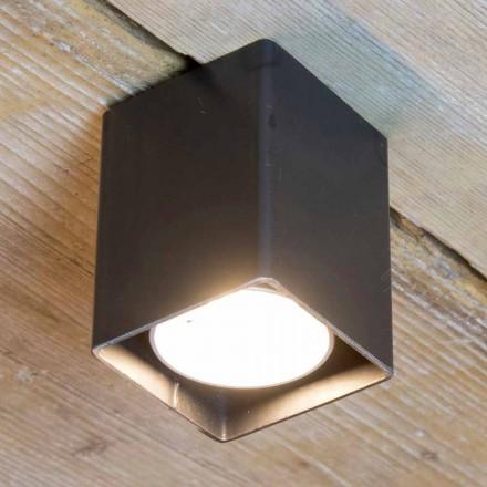 Lámpara Artesana en Hierro Negro con Forma Cúbica Made in Italy - Cubino
