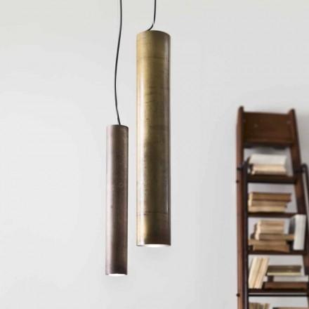 Lámpara de suspensión cilíndrica Ø8 Girasoli Il Fanale