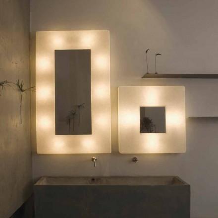 Lámpara de pared de diseño con espejo In-es.artdesign Ego en nebulita
