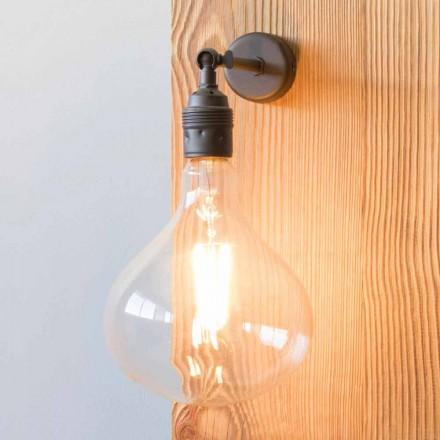 Lámpara con estructura de hierro bruñido a mano Made in Italy - Alabama