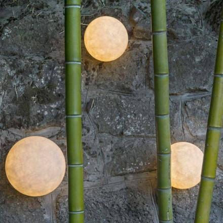 Lámpara de pared para exterior In-es.artdesign A. Moon Out en nebulita
