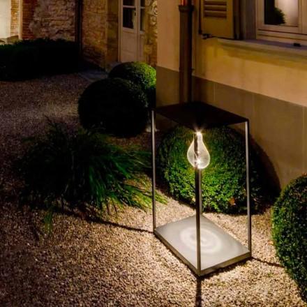 Lámpara de exterior de hierro artesanal con LED integrado Made in Italy - Cubola