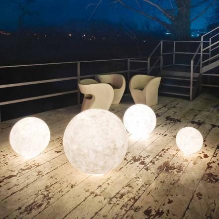 Lámpara de pie de exterior In-es.artdesign Ex.Moon en nebulita