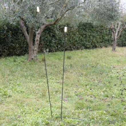 Lámpara de exterior en hierro pintado diseño minimalista Made in Italy - Filo
