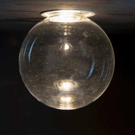 Lámpara empotrada de aluminio con cristal decorativo Made in Italy - Ampolla