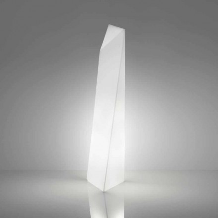 Moderna lámpara de pie prisma blanca Slide Manhattan, hecha en Italia
