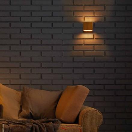 pared de diseño de la lámpara en latón y acero 11xH11xsp.10 cm Venus