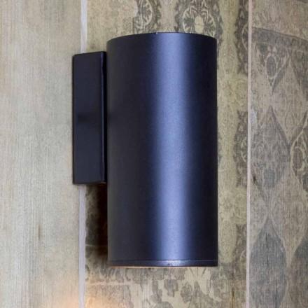 Lámpara de pared cilíndrica de hierro hecha a mano Made in Italy - Gemina