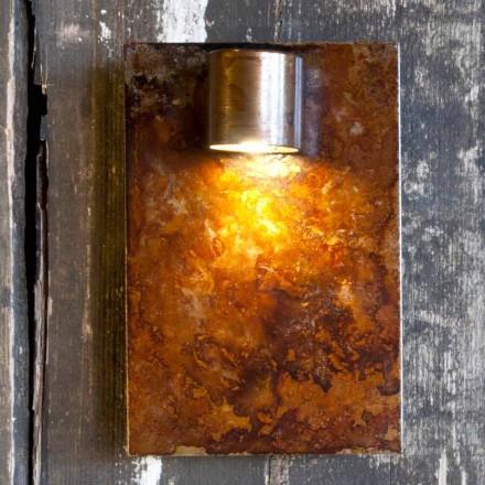 Lámpara de pared artesanal en acabado Iron Corten Made in Italy - Cialda