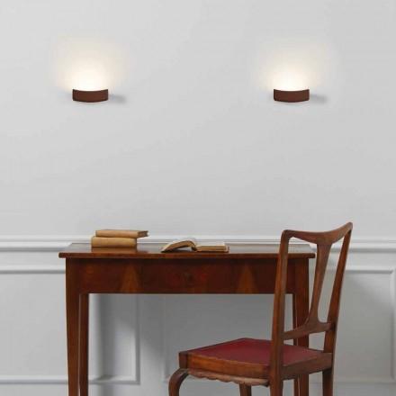 Lámpara de pared de acero diseño moderno 13xH 3.5x Sp.10 cm Osea