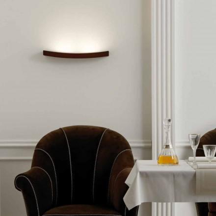 Moderna lámpara de pared de acero de diseño L50x H3,5xSp.10 cm Eldorado
