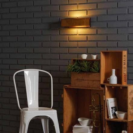 Lámpara de pared de diseño de latón y acero 35xH 10xsp.9 cm Harya