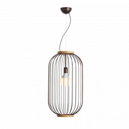 Colgante de acero lámpara 35xH70xL.cavo100 cm de diámetro Bibiana