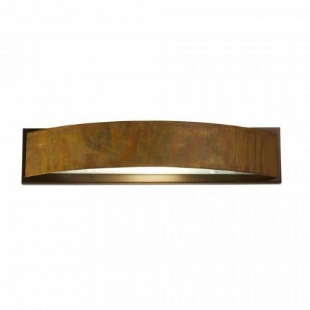 Lámpara de pared en latón y acero H 49x 10 cm xsp.9 Blandine