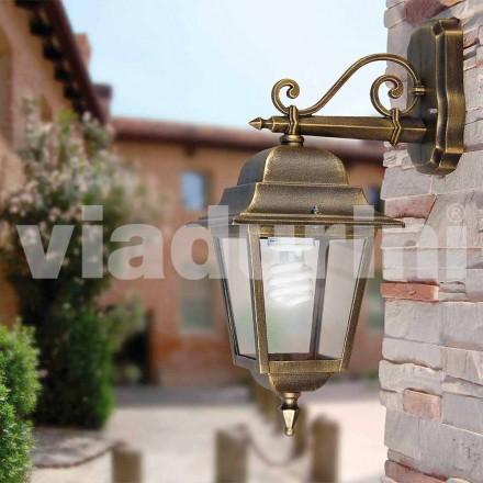 Lámpara de pared para jardín hecha con aluminio, fabricada en Italia, Aquilina