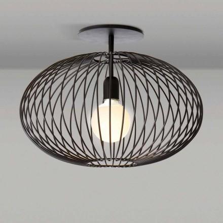 lámpara de techo moderna en acero pintado, 48xH 35 cm, heila