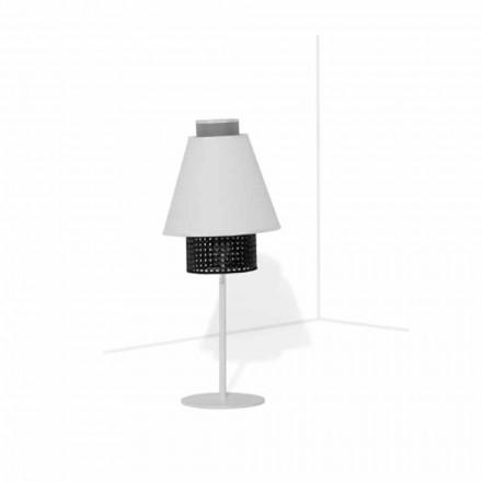 Lámpara de mesa con estructura metálica de diseño moderno Made in Italy - Sailor