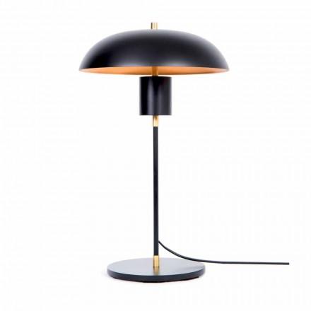 Lámpara de mesa de diseño artesanal en hierro y aluminio Made in Italy - Marghe