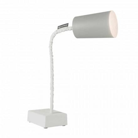 Lámpara de mesa In-es.artdesign Paint T2 vástago de cemento flexible