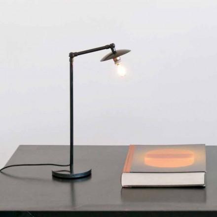 Lámpara de mesa de hierro con luz ajustable Made in Italy - Amino