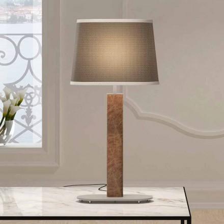 Lámpara de mesa de metal con pantalla de tela Made in Italy - Jump