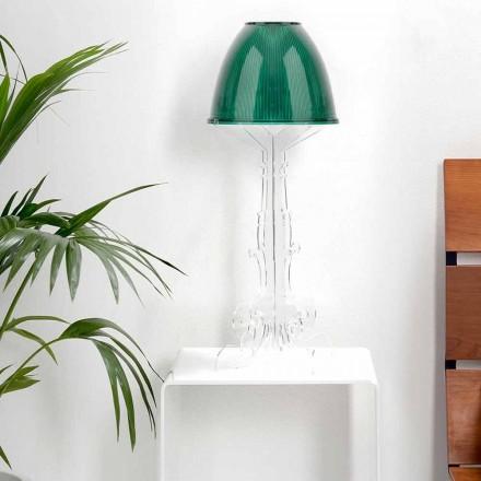 Lámpara de lectura / mesa de diseño Liberty con base de plexiglás, Caneva
