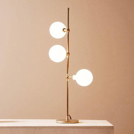 Lámpara de mesa moderna hecha a mano en latón con LED Made in Italy - Grippa