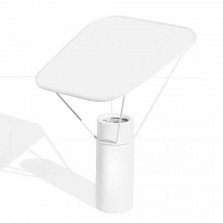 Lámpara de mesa moderna de resina y algodón blanco Made in Italy - Fiera