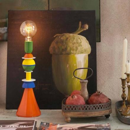 Lámpara de mesa multicolor Slide Otello en aluminio, fabricada en Italia.
