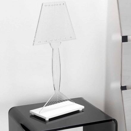 Lámpara de mesa moldeada en plexiglás, luz LED, Ferla