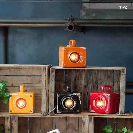 estilo industrial lámpara de mesa de cerámica y hierro Valerie