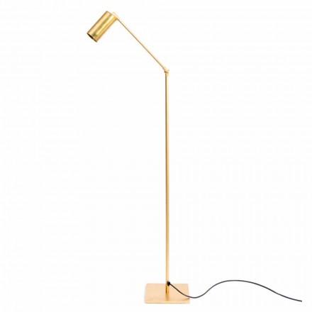 Lámpara de pie Artisan de latón natural con LED Made in Italy - Agio