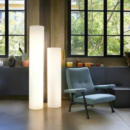 Lámpara de pie Slide Fluo cilíndrica fabricada en Italia.
