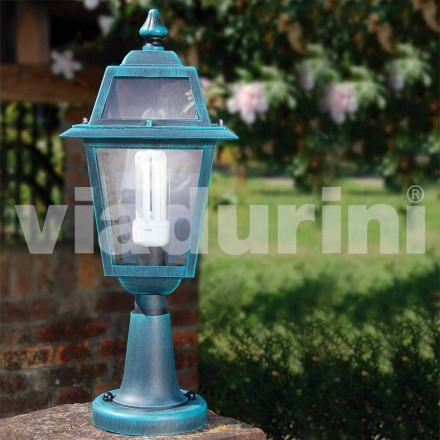 Lámpara de pie para exterior fabricada en aluminio, hecha en Italia, Kristel