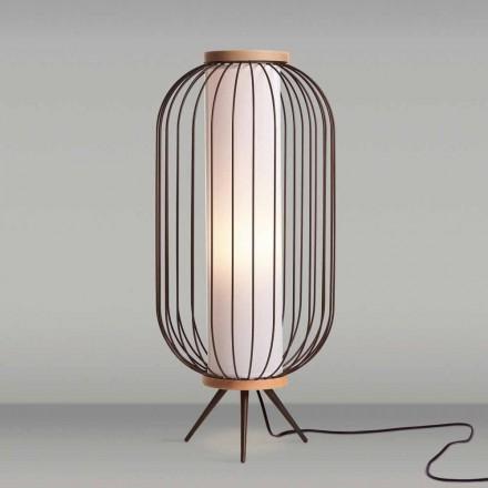 Lámpara de pie diseño moderno en acero inoxidable cm de diámetro 37xH80 Fanny