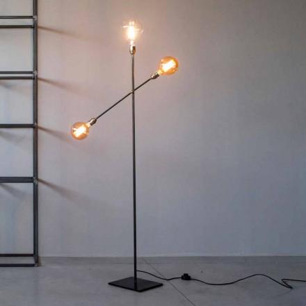 Lámpara de pie de diseño en hierro con luces ajustables Made in Italy - Melita