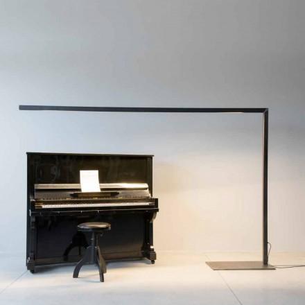 Lámpara de pie de diseño en hierro negro con barra de LED Made in Italy - Barra