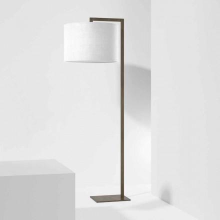 Lámpara de pie de diseño en metal con pantalla de lino Made in Italy - Bali