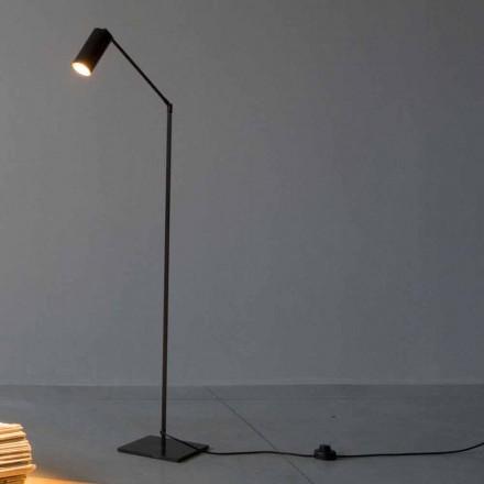 Lámpara de pie de hierro y aluminio con luz ajustable Made in Italy - Farla