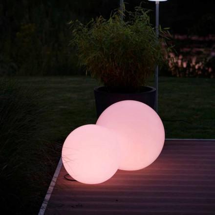Lámpara de Pie Led Multicolor en Polietileno Blanco, Diseño Redondo - Globostar
