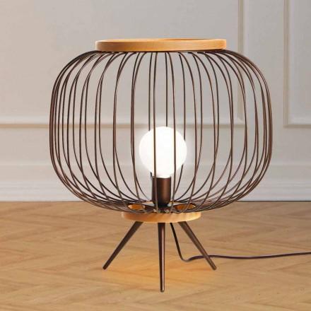 de diseño de acero suelo Contemporary lámpara 48xH 52 cm Leira