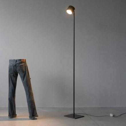 Lámpara de pie Minimal en hierro y aluminio negro Made in Italy - Osiris